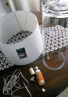 decor, lamps, clear glass, craft, rocki bella