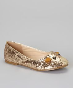 Gold Glitter Mouse Flat
