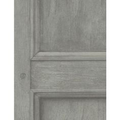 Highly authentic wood panel design wallpaper in light grey.