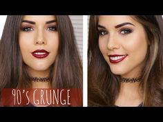 Easy 90's Grunge Makeup Tutorial ft. Too Faced Chocolate Bar Palette - YouTube