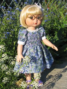 Ann's dress was smocked and handsewn by Ebay specialdelivery2006.  Such beautiful work.