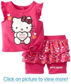 Hello Kitty Baby-girls Infant Short Set With Ruffles