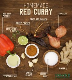 Learn how to make your own homemade red curry sauce. This sauce gets its color and signature flavor from ripe red chilies. Serve it over rice, sautéed meats, tofu or vegetables of your choice.