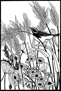 Susan L. Throckmorton — Wycinanka 'The Wheat Field'  (474x700)