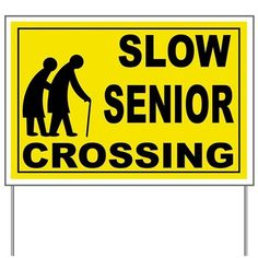 Shop SLOW SENIOR CROSSING Yard Sign designed by UsaNavyPride. Lots of different size and color combinations to choose from. Birthday Yard Signs, Mom Birthday, Funny Birthday, Birthday Ideas, Retirement Party Decorations, Retirement Parties, Yard Decorations, 50th Birthday Quotes, Custom Yard Signs