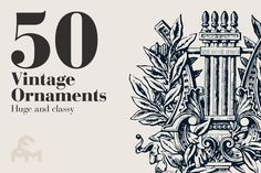 Check out 50 Vintage Ornaments by MARTINI Type Designer on Creative Market