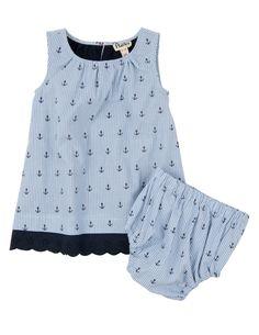 Ticking Anchors Dress