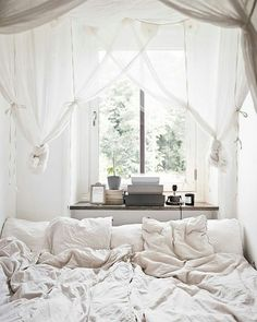 Saturdays are for this!😆☺😆 #saturday #rest #chillin #bedroom #cozy #comfy #sleep #romantic #calm #white #interior #decor #design #home #boho #pillow #blanket #duvet #like4like #tagsforlikes #follow4follow #happy #love #curtains #books #frame #window #plants
