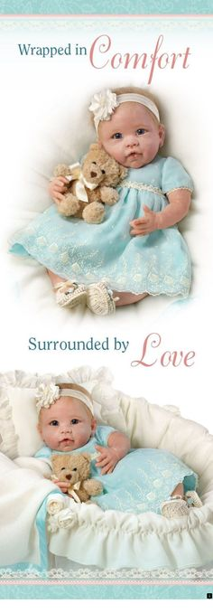 5aa1eea9bd Pamper the You Are So Beautiful Baby Doll with her lavish outfit and  included bassinet!