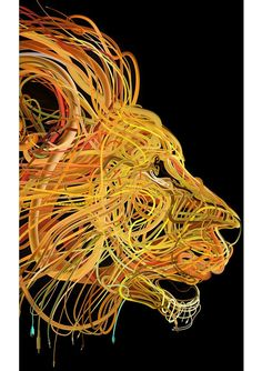 """絡み合ったワイヤーをモチーフに描かれる…独創的な""""ビジュアルアート""""が美しい!"""