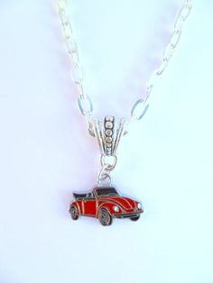 VW Convertible Beetle Necklace by itsavwthing on Etsy