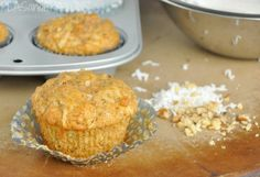 Peas and Crayons: Gluten-Free Carrot Coconut Muffins