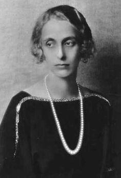 Princesse Louise de Battenberg (1889-1965) reine de Suède, épouse du roi Gustaf VI Adolf