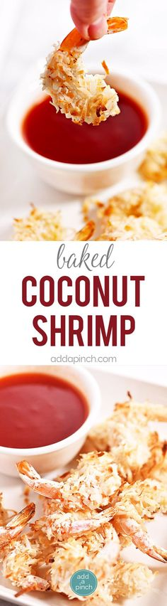 Baked Coconut Shrimp - Coconut shrimp is always a restaurant favorite, but this simple recipe couldn't be easier for delicious baked coconut shrimp at home!