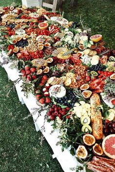 Cool & Colorful Wedding Trend for 2017: The Grazing Table