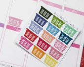 15 Laundry Basket Die-Cut Stickers // (Perfect for Erin Condren Life Planners)