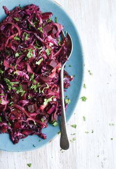 Red Cabbage Beet Slaw - Pure Ella