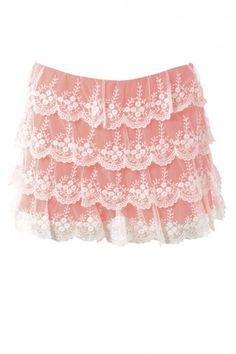CLOTHING CLOSET NEON LACE SHORTS by rubyredboutique.co.uk for £22.00
