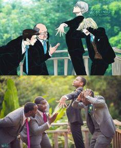 Anime Meme, Comic Anime, Yuri Plisetsky, Georgi Popovich, Yuri On Ice Comic, Yuri!!! On Ice, Katsuki Yuri, Homo, Film D'animation
