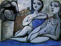 Nudes and bust - Pablo Picasso http://pablo-picasso.paintings.name/