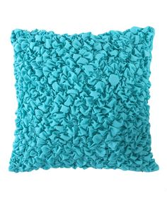This Teal Temecula Ruched Pillow by Levtex Home is perfect! Apartment Makeover, Teal, Invitations, Throw Pillows, Texture, Inspiration, Home Decor, Bedroom Ideas, Touch