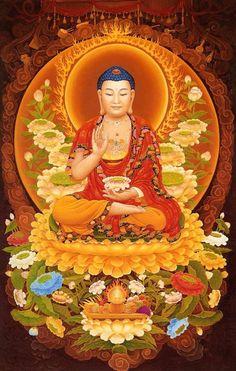 Asava, or outflow, is four in number: Kamasava - sensual desires bhavasava - desire for existence ditthasava - views and opinions avijjasava - ignorance, Buddhism Buddha Artwork, Buddha Painting, Buddha Buddhism, Buddhist Art, Peaceful Words, Amitabha Buddha, Tibetan Art, Meditation, Gods And Goddesses