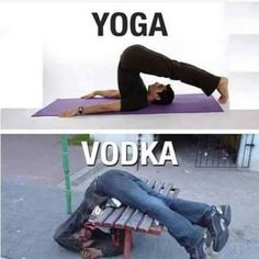 Yoga vs Vodka meme