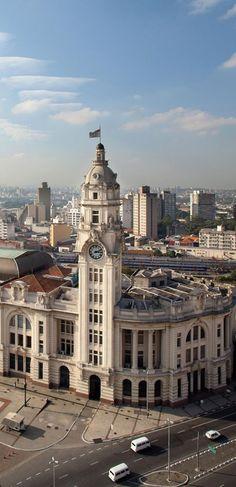 Estação Júlio Prestes train station, a majestic building that hosts Sala São Paulo, a world-class concert hall, home of the São Paulo Philharmonic OSESP. São Paulo, Brazil