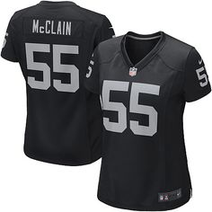 shop the official Raiders store for a Women's Nike NFL Oakland Raiders  Rolando McClain Elite Team Color Black Jersey in the latest styles available online and in stores. Size: S,M 40,L 44,XL 48,XXL 52,XXXL 56,XXXXL 60.Totally free shipping and returns.  $109.99