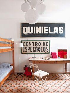 Casinha colorida: Home tour: estilo campestre e eclético pelos espanhóis