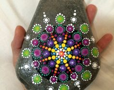 Painted Stone Mandalas by XticksnXtones on Etsy