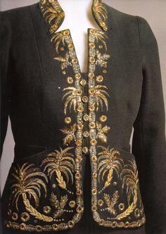 BABILONIA #2  Elsa Schiaparelli, wool evening ensemble bought by Marlene Dietrich, fall/winter 1936-1937