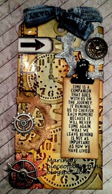 "Marina's piece of paper...: Tim Holtz ""12 tags of 2013"" - Januar"