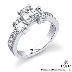 Newest Engagement Ring Design - Unique Diamond Engagement Rings, Engagement Ring Styles, Designer Engagement Rings, Unique Rings, Antique Diamond Rings, Wedding Rings Vintage, Big Diamonds, Asscher Cut, Elizabeth Taylor