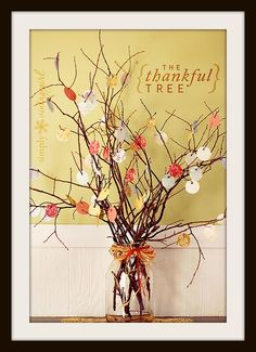 Thankful Tree - cut out papers in shape of leaves - maybe have the kids color them