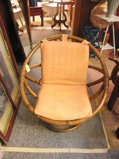 Bamboo/rattan Swivel Chair $49