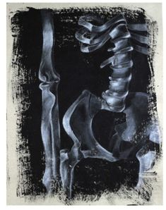 White Charcoal on Black Gesso Bone Drawing Project - Memento Mori - Charcoal Art, White Charcoal, Charcoal Drawings, Pencil Drawing Tutorials, Drawing Projects, Pencil Drawings, Skeleton Drawings, Easy Drawings, Artist Painting