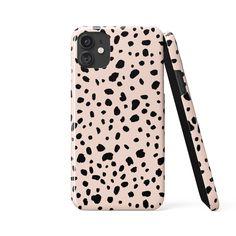 DALMATIAN SPOTS Blush Phone Case - iPhone 12 Mini / Tough Case - Gloss