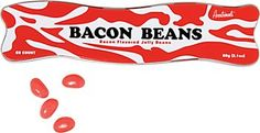 Bacon Jelly Beans http://www.papersource.com/item/Bacon-Jelly-Beans/3307.010/739048118490.html