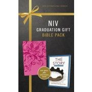 A perfect gift for the graduate, this Graduation Gift, Bible Pack includes an NIV Bible in a striking binding as well as The Story Devotional, featuring 365 daily Scripture readings. Graduation Gifts For Her, Graduation Quotes, Scripture Reading, Daily Scripture, Gods Plan, Book Format, Lettering, Pink, Congratulations