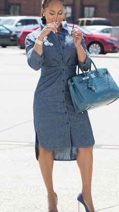 Jean dress. Marjorie Harvey. New Look 0865