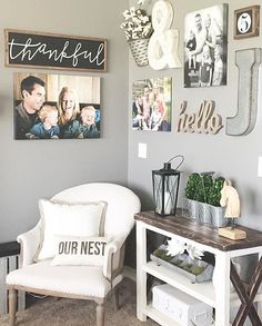 "happy monday, friends || LOVING this cozy corner in my IRL friend vanessa's @urban.farm.girl home!! snag your own thankful sign TONIGHT (05.09) at 8pm CST, i'll be listing a *limited THANKFUL PRE-ORDER* for both my thankful sign (approx 10.5x31.5"") and my mini thankful sign (approx 8x24"")!!! see you then! xoxo ..."