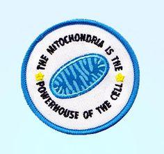 La mitocondria es la central de la célula bordado hierro-en remiendo - parche…