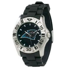 NFL Men's FM-CAR MVP Series Carolina Panthers Watch Game Time. $49.95. Water Resistant Depth to 30 Meters. All metal case with Stainless Steel Case back. Black Sunray Dial with Glow-in-the-dark Hands. Limited Lifetime Warranty. Comfort-Link Adjustable Polyurethane Strap