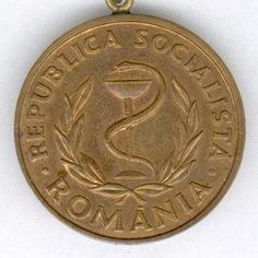 Medal for Medical Merit (Medalia Meritul Sanitar), issue After The Fall, Medical, Bronze, Personalized Items, Medicine, Med School, Active Ingredient