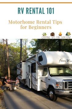 RV rental tips for your vacation + how to find an RV in your area. RV tips for b. - RV rental tips for your vacation + how to find an RV in your area. RV tips for beginners and questi - Rv Camping Tips, Camping For Beginners, Camping Supplies, Camping Checklist, Camping Essentials, Tent Camping, Rv Tips, Camping List, Camping Stuff