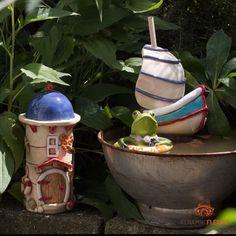 """Steffi Ernst-Fleury on Instagram: """"Maritime Keramik Liebhaber der Maritimen Keramik sind hier genau richtig. Die Keramik kann im Garten oder in einem Zuber schön dekoriert…"""""""