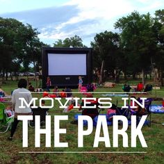 Free movies in the park are fun ways to see old movies and spend time with family. Austin Real Estate, Austin Tx, Outside Movie, Movie In The Park, Cool Calendars, Georgetown Tx, Texas State University, Honeymoon Vacations, Eyes On The Prize