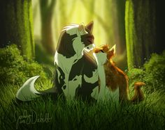 This one is of 's characters Vinestar and Spottedpaw. RP Challenge Day Five - Vinestar and Spottedpaw Warrior Cats Fan Art, Warrior Cats Series, Warrior Cats Books, Warrior Cat Drawings, Anime Wolf Drawing, Cat Oc, Warrior Paint, Love Warriors, Cat Memes