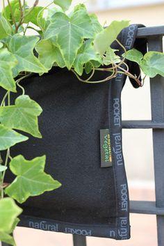 Espacio Vegetal Recipiente Decorativo Verde Jardinera Textil.